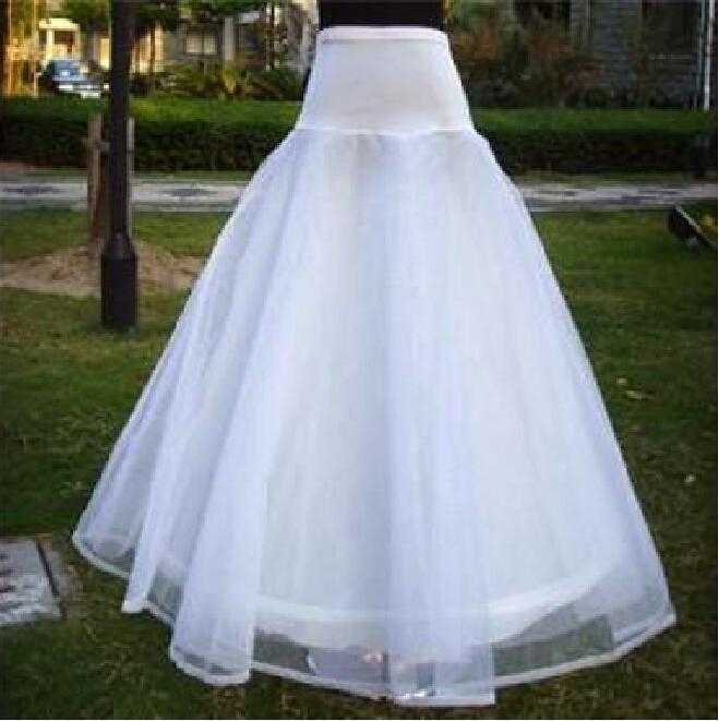 high quality petticoats 1 hoop white wedding dresses a line petticoat crinoline underskirt cheap bridal skirt petticoat organza bridal gowns skirt Crinoline Skirt For Wedding Dress