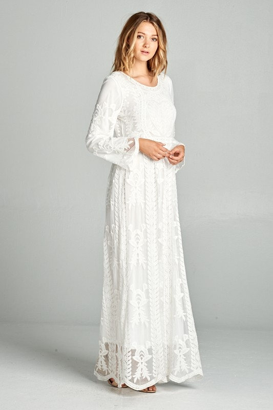 hope lds mormon temple dress modest wedding dress in Lds Temple Wedding Dresses