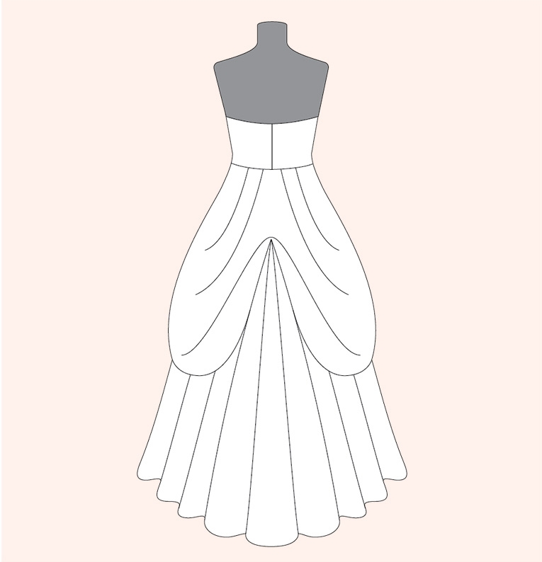 how to bustle a wedding dress davids bridal Bustling A Wedding Dress
