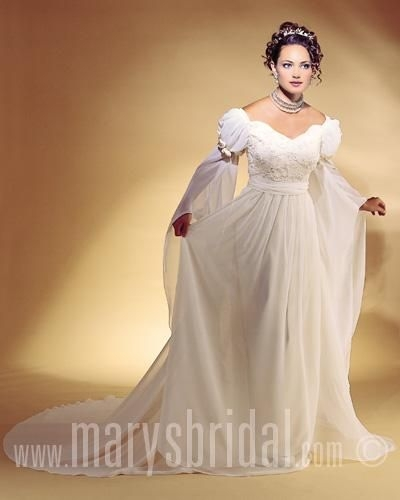 i love the bottom half of the sleeves on this one wedding Renaissance Wedding Dresses For Sale