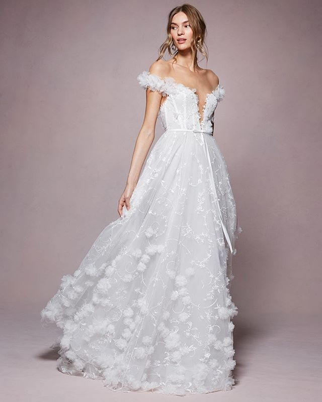 introducing the kyla from the springsummer 2020 marchesa Marchesa Wedding Dress Pretty