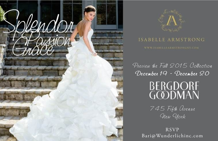 invite bergdorf goodman bridal salon ft isabelle armstrong Bergdorf Goodman Wedding Dresses