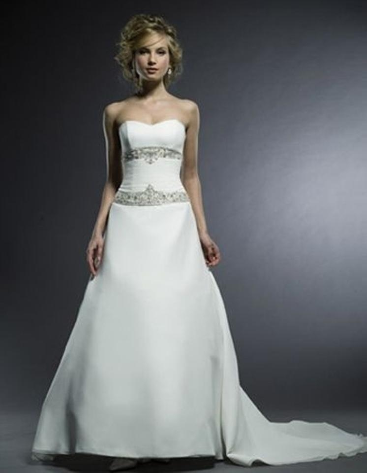 ivory feminine wedding dress Henry Roth Wedding Dresses