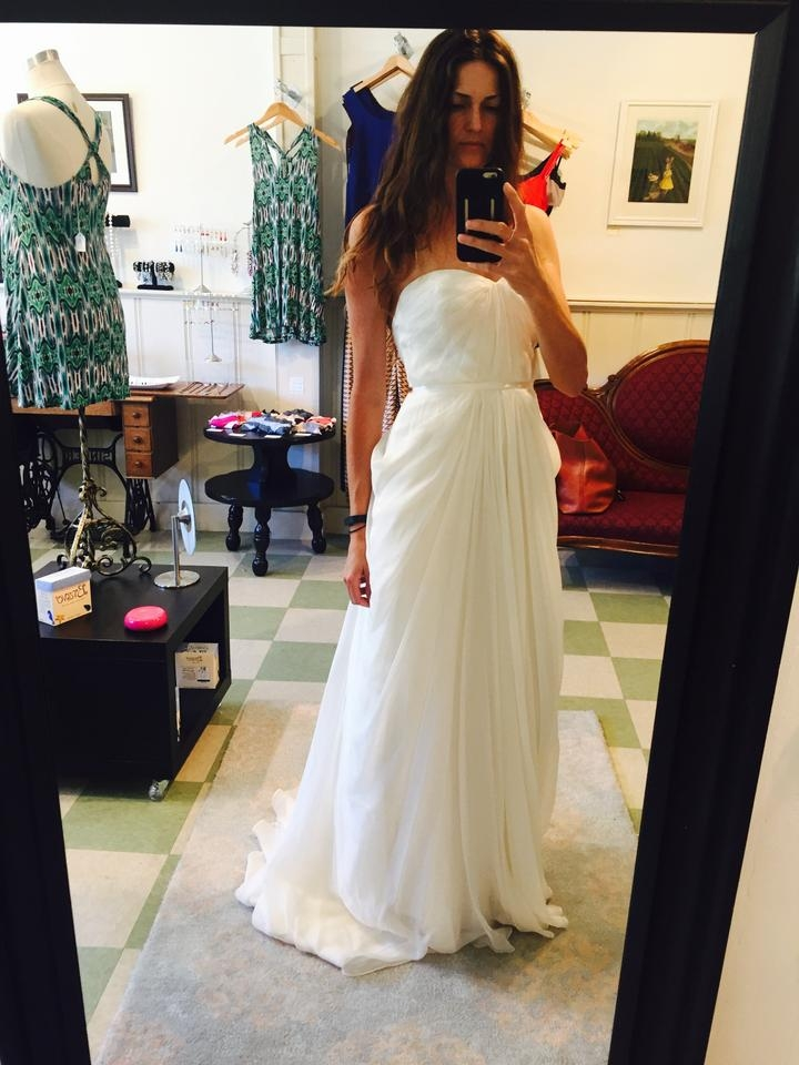 ivy aster ivory silk lumiere feminine wedding dress size 6 s 32 off retail Ivy And Aster Wedding Dresses