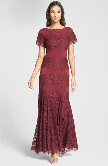 jessica simpson short sleeve lace gown available at Nordstroms Dresses For Weddings