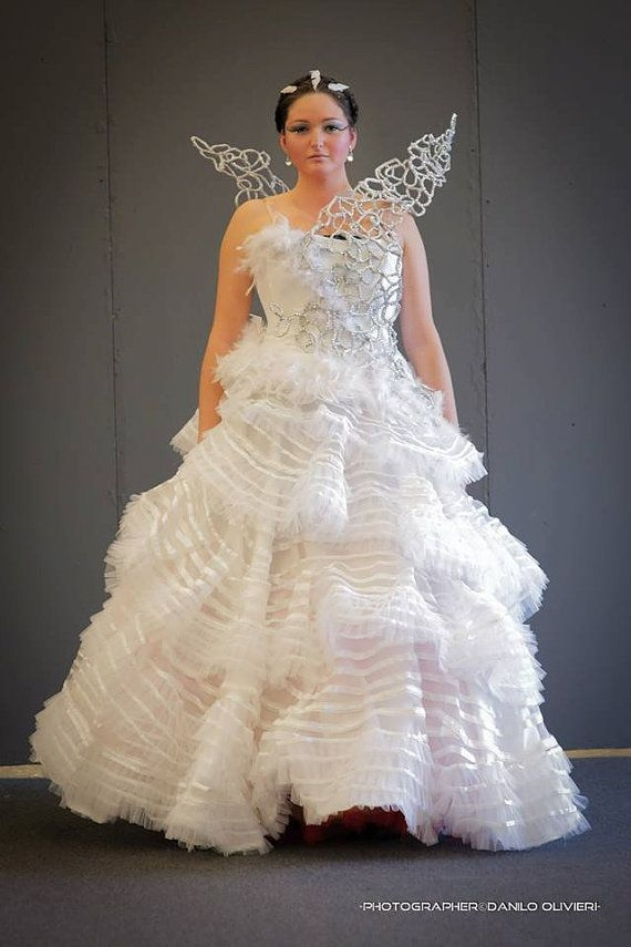 katniss wedding dress only cage wings veerenacosplay on Katniss Wedding Dress