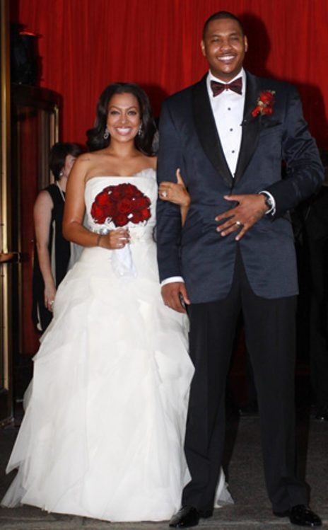 lala vazquez carmelo anthony from celebrity weddings in Lala Anthony Wedding Dress