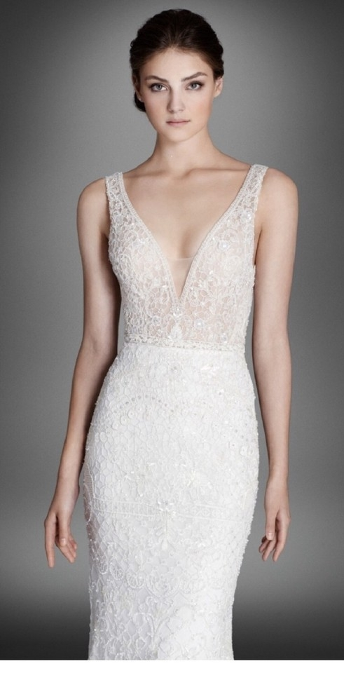 lazaro ivory crystal embroidered lace alexis style lz3558 sexy wedding dress size 4 s 53 off retail Lazaro Wedding Dresses s