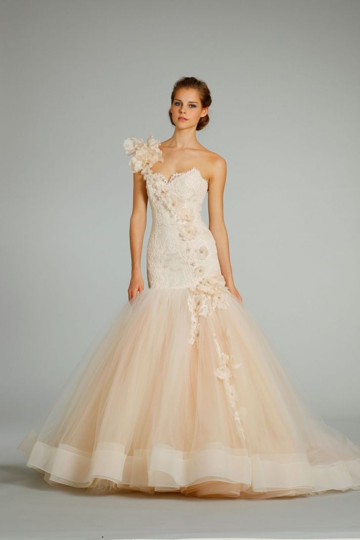 lazaro wedding dress with little flowers fashion dresses Lazaro Wedding Dresses Website