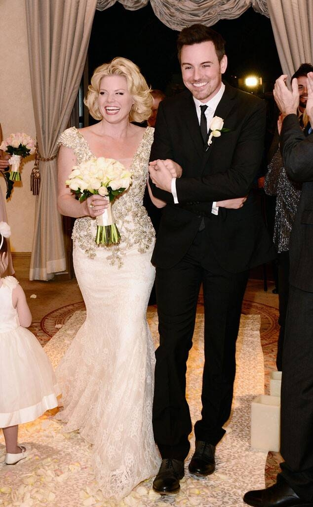 leah remini angelo pagan from celebrities married in las Leah Remini Wedding Dress