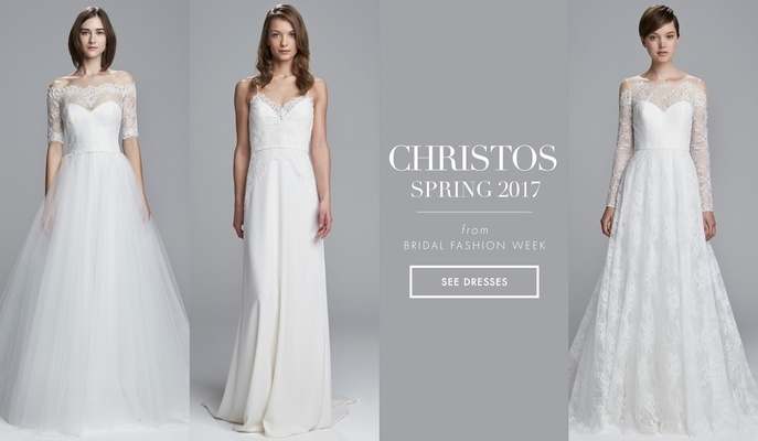 light and airy wedding dresses from christos spring 2017 Christos Wedding Dresses