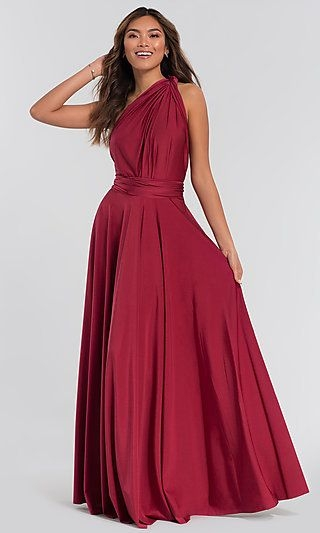 long kleinfeld bridesmaid convertible bodice dress new Red Wedding Dresses Kleinfeld