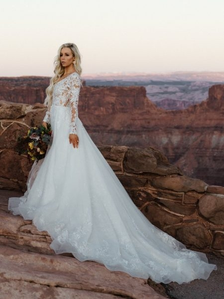 long sleeve lace ball gown wedding dress Sottero And Midgley Wedding Dresses