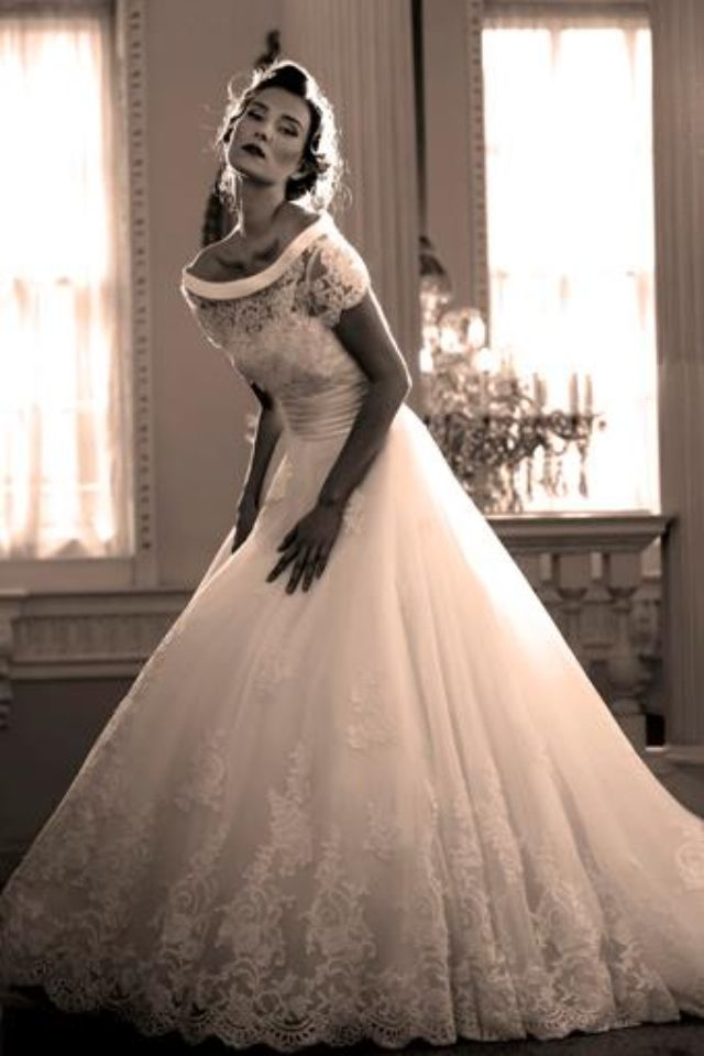 love this classic 50s style wedding dress 3 weddings Fifties Style Wedding Dress