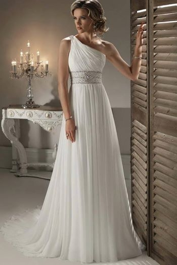 love this empire waist grecian style gown perfect if youre Grecian Style Wedding Dresses