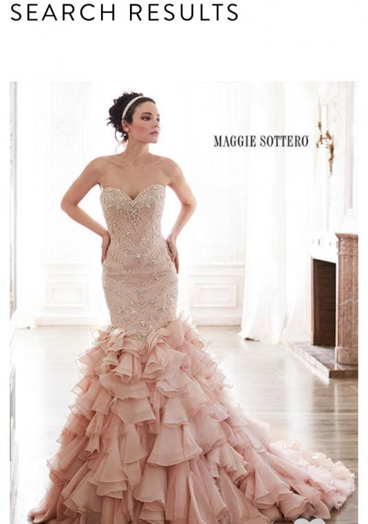 maggie sottero serencia size 12 bridal gown size 12 only 190000 Maggie Sottero Blush Wedding Dress
