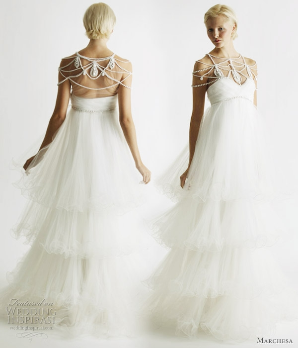marchesa spring 2011 bridal collection wedding inspirasi Marchesa Wedding Dress Pretty