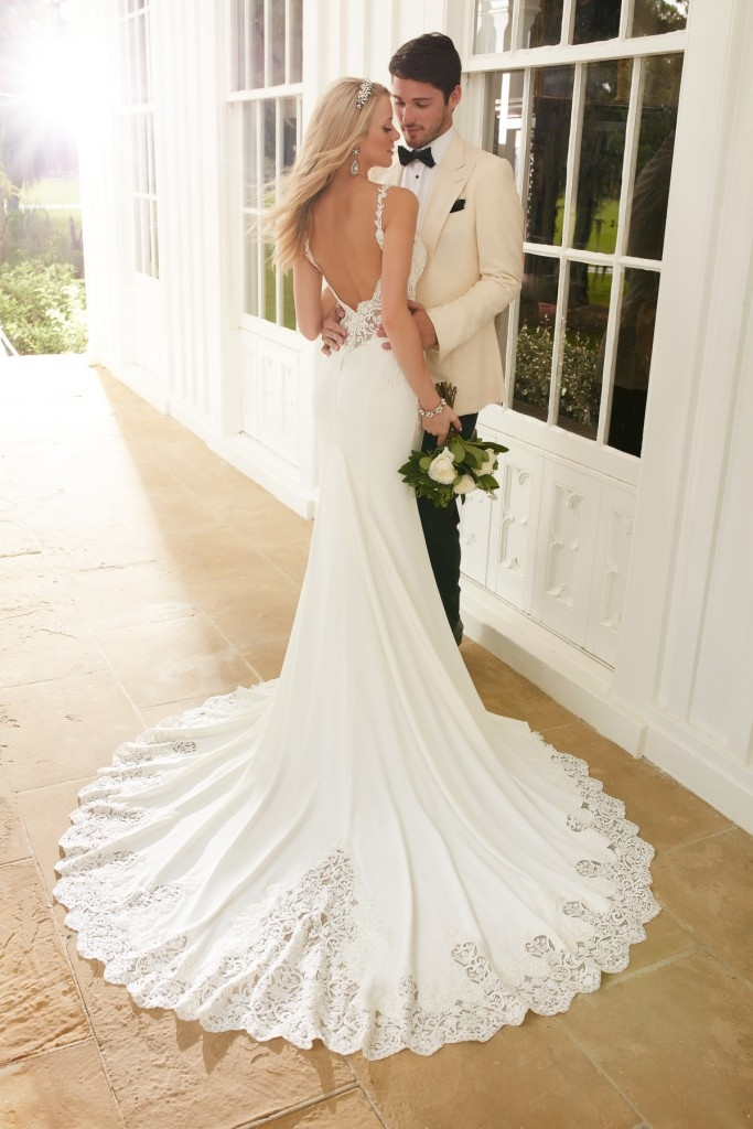 martine loves backless wedding dresses pretty happy love Wedding Dresses With Dramatic Backs