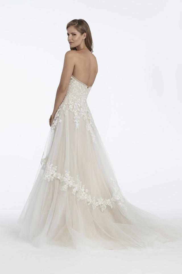 matthew christopher off white tulle and lace ru feminine wedding dress size 12 l 40 off retail Matthew Christopher Wedding Dresses