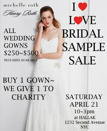 michelle roth new york bargains Wedding Dress Sample Sale Nyc