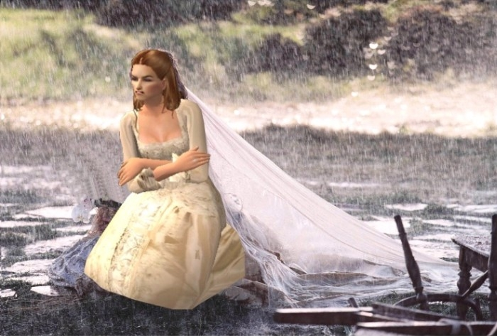 mod the sims potc2 elizabeth swanns wedding gown Elizabeth Swann Wedding Dress