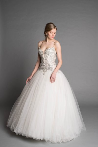 modern ball gown wedding dress Pnina Wedding Dress