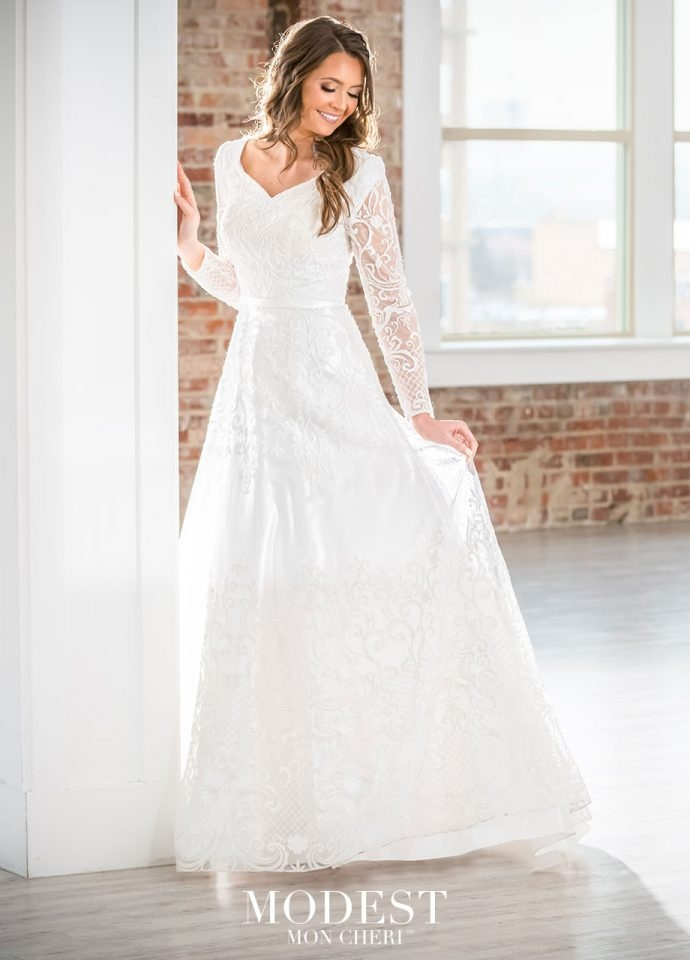 modest wedding dresses bridal gowns 2019 Lds Modest Wedding Dresses