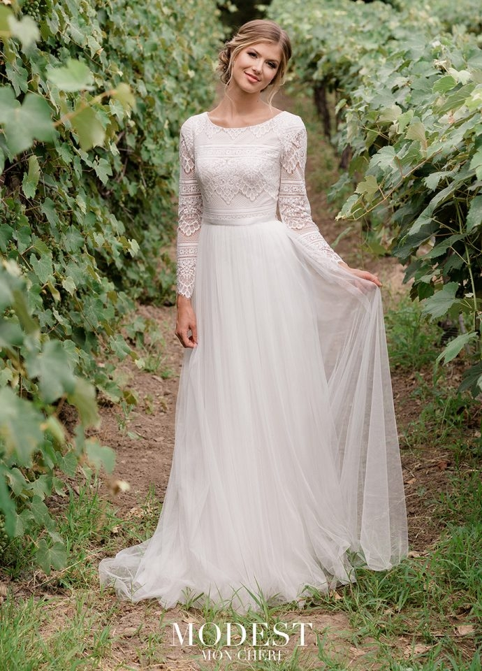 modest wedding dresses bridal gowns 2019 Lds Wedding Dresses