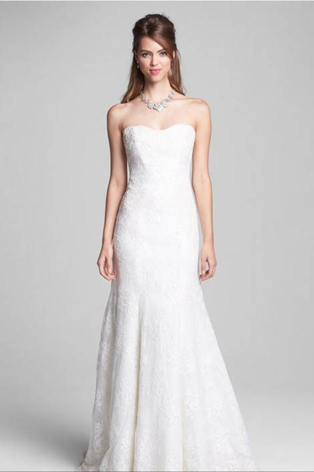 monique lhuillier ivory lace ml classic collection bliss bl1304 vintage wedding dress size 6 s 74 off retail Monique Lhuillier Wedding Dress Pretty