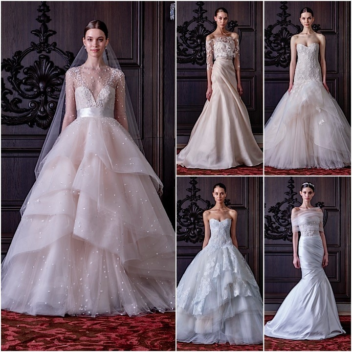monique lhuillier wedding dresses 2016 modwedding Monique Lhuillier Wedding Dress Pretty