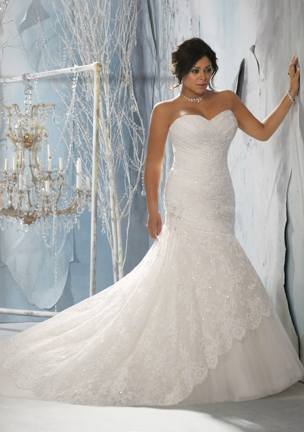 morilee bridal alencon lace over tulle with embroidered Mori Lee Wedding Dresses s