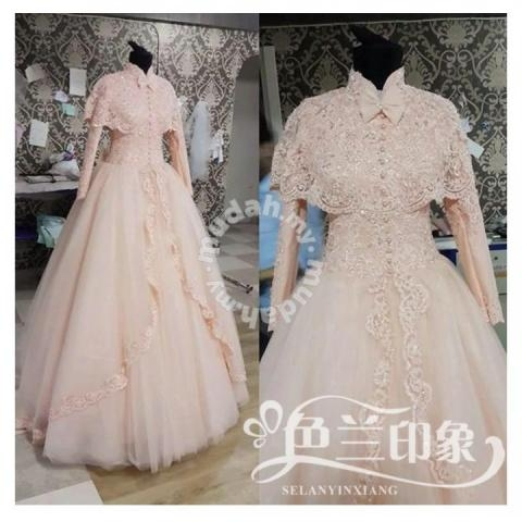muslimah white red wedding gown prom dress rbmwd00 wedding for sale in johor bahru johor Muslimah Wedding Dress