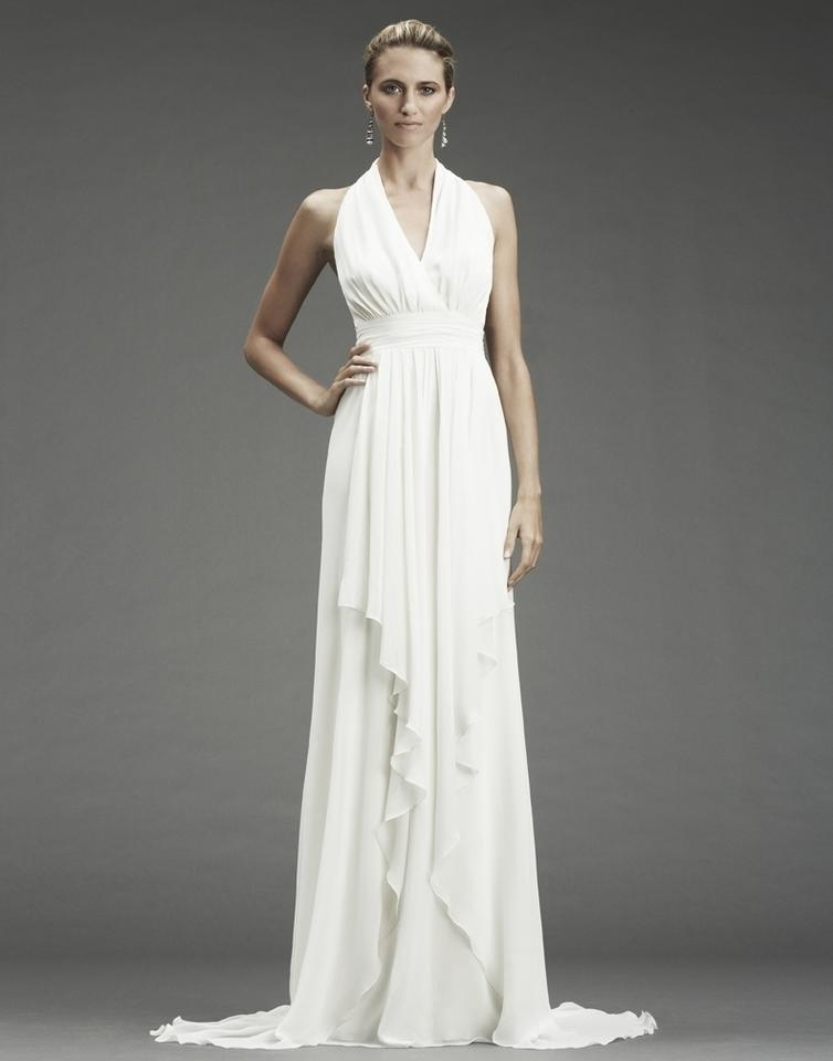 nicole miller bridal antique white silk grecian inspired gown fa0028 formal wedding dress size 12 l 63 off retail Grecian Style Wedding Dresses