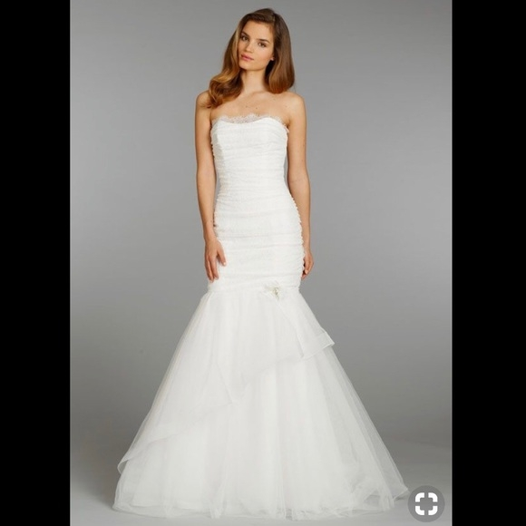nwt alvina valenta mermaid tulle wedding gown nwt Alvina Valenta Wedding Dresses