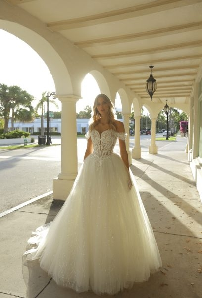 off the shoulder sweetheart neckline ball gown wedding dress with basque waist and beading Basque Waist Wedding Dress