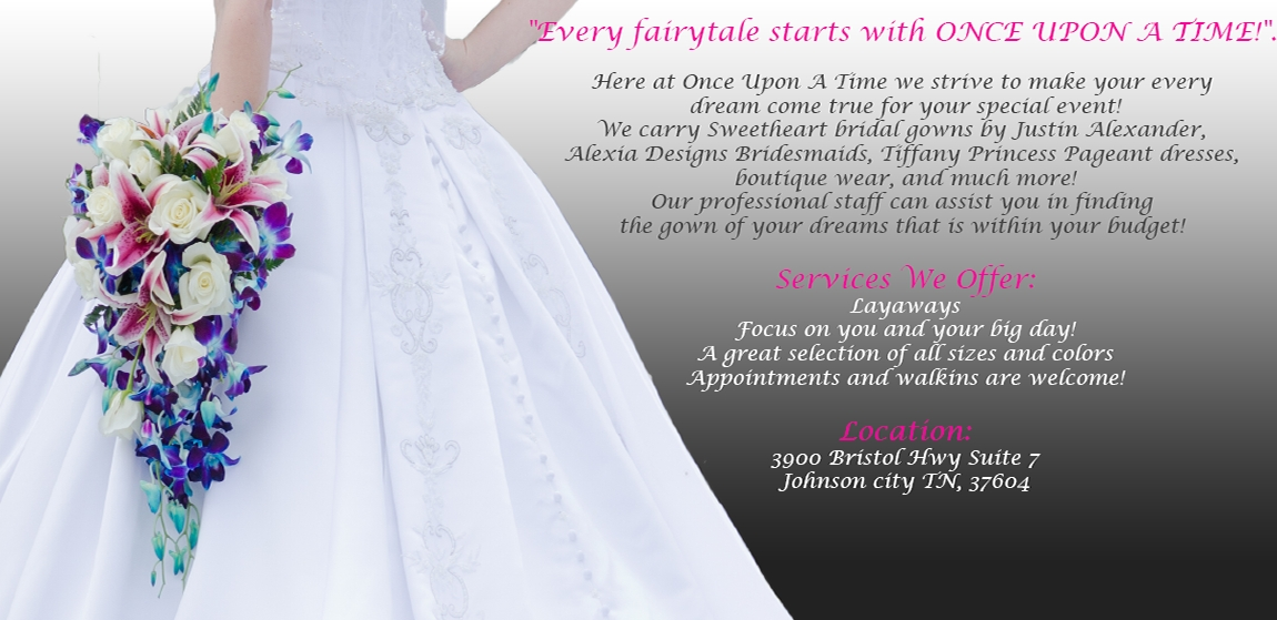 once upon a time bridal boutique Wedding Dresses Johnson City Tn