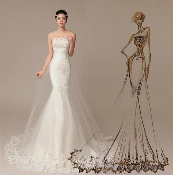 pin on nice2wears Mermaid Tail Wedding Dresses