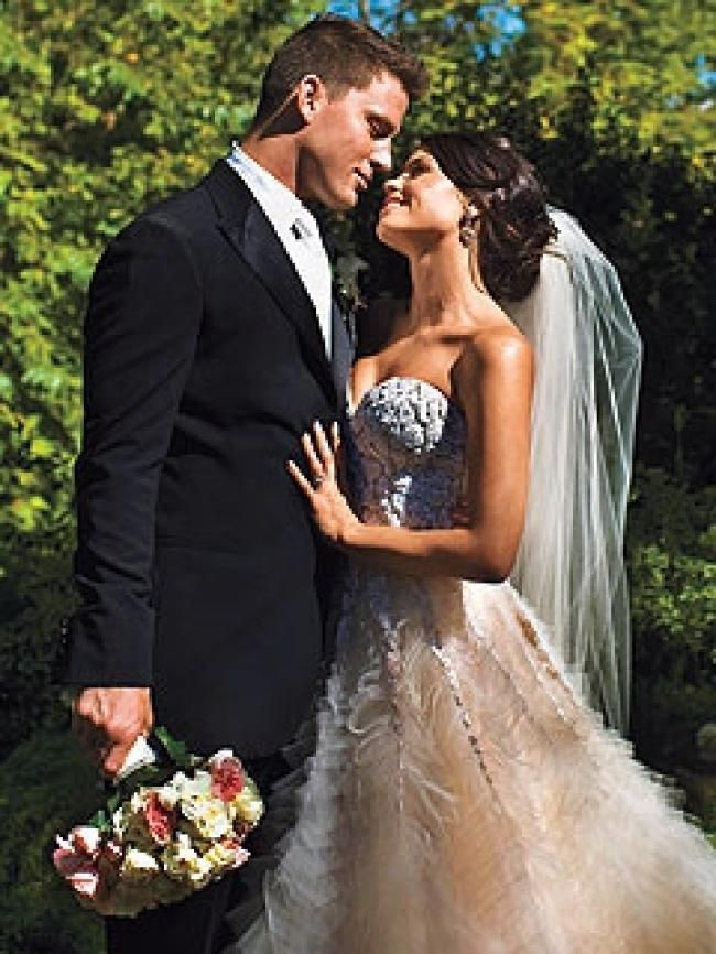 pin on pretty famous faces Jenna Dewan Wedding Dress