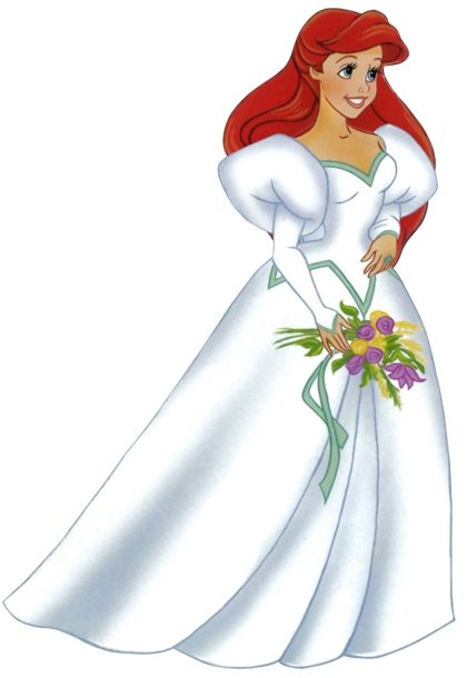 pin rachel cabanilla on arts disney princess ariel Ariels Wedding Dress