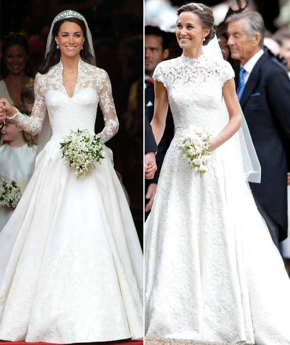 pippa middleton wedding dress compared to kate middleton Kates Wedding Dress