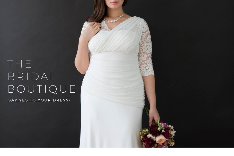 plus size wedding dresses and gowns behind the seams Kiyonna Wedding Dress