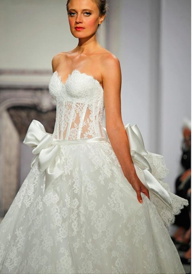 pnina tornai off white lace sweetheart neckline ball gown style 3290 traditional wedding dress size 2 xs 51 off retail Panina Wedding Dresses