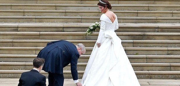 princess eugenie wedding dress details cost designer and Eugenia Wedding Dress