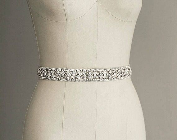 priscilla crystal sash belt bridal gown belt long Rhinestone Sashes For Wedding Dresses