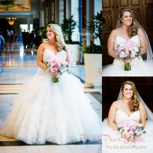 real plus size wedding blush and ivory san diego wedding Plus Size Wedding Dresses San Diego