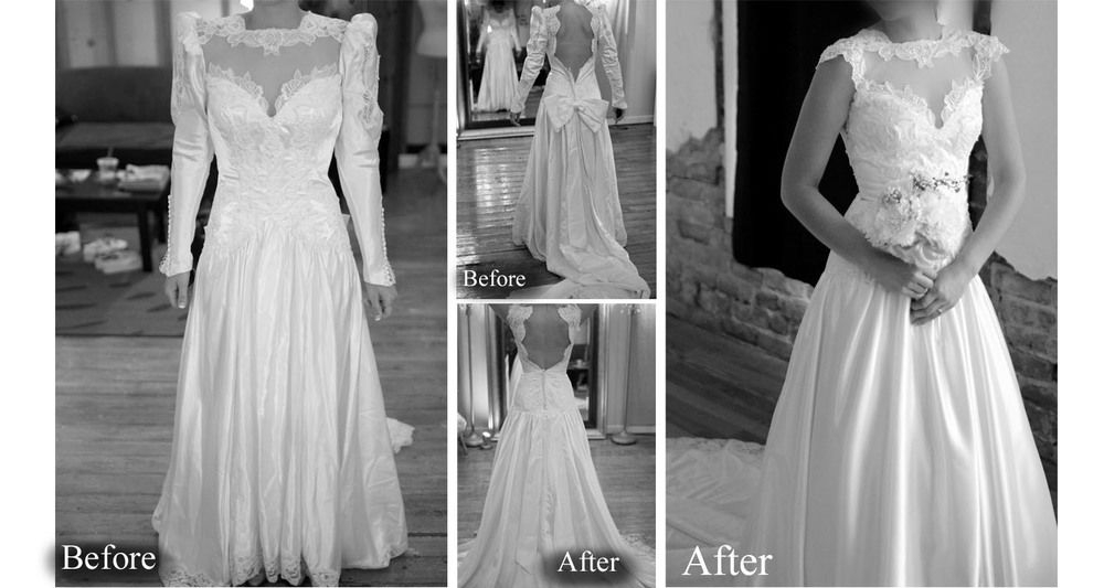 redesign of a vintage wedding gown it can be done Wedding Dress Redesign