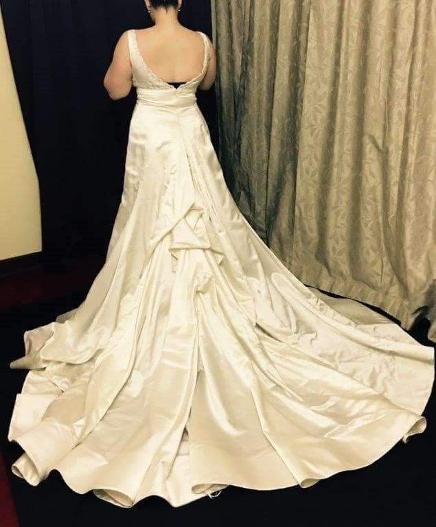 reem acra wedding dress size 10 for sale at white gown Used Reem Acra Wedding Dress