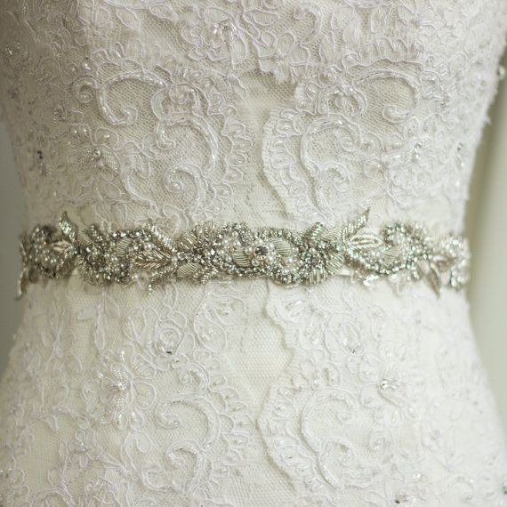 rhinestone sash wedding dress belt sash bridal belt Rhinestone Sashes For Wedding Dresses