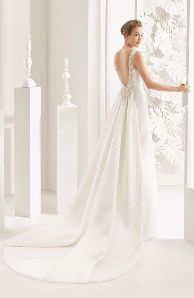 rosa clar natural navas embellished piqu column gown with train current at nordstrom traditional wedding dress size 10 m 73 off retail Nordstroms Wedding Dresses