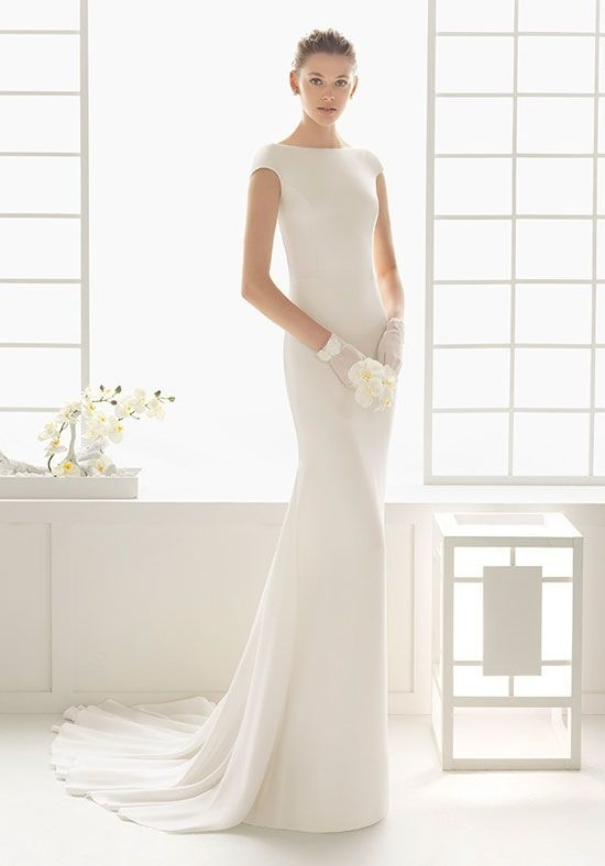 rosa clara dylan crepe dress in ivory also available in Ecru Wedding Dress